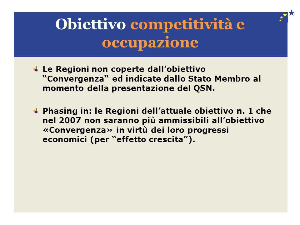 Obiettivo competitività e occupazione