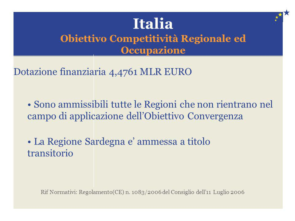 Obiettivo Competitività Regionale ed Occupazione