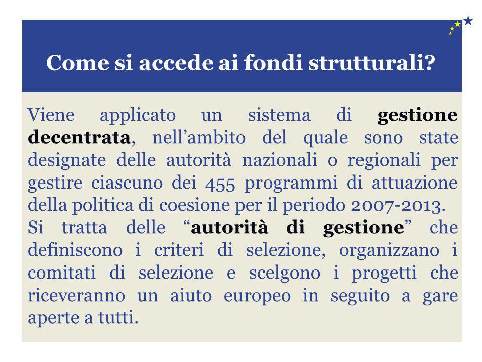 Come si accede ai fondi strutturali