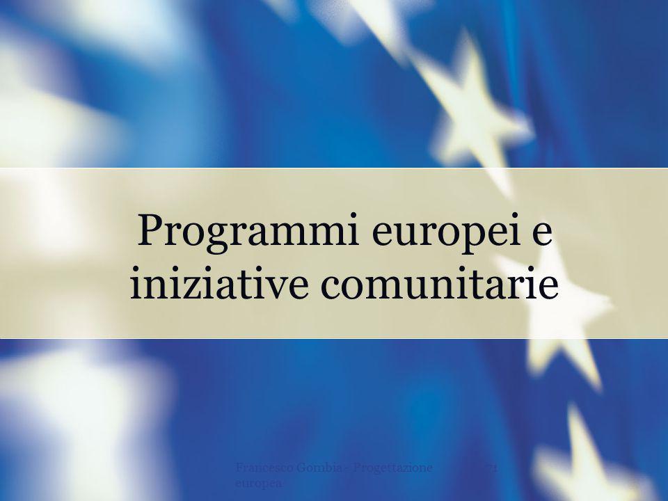 iniziative comunitarie
