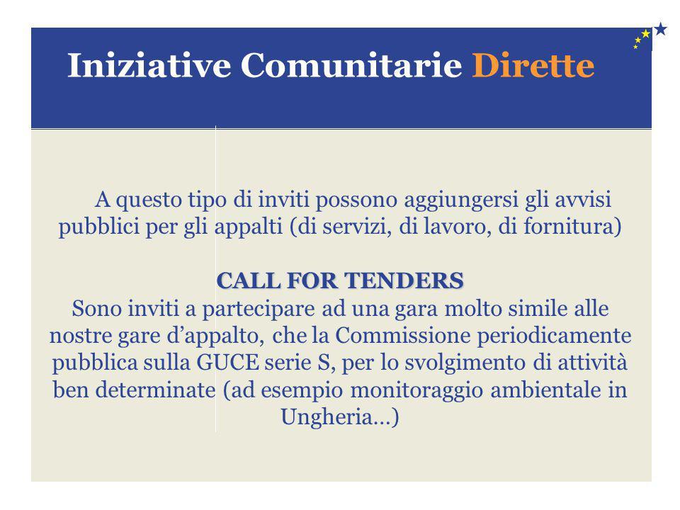 Iniziative Comunitarie Dirette
