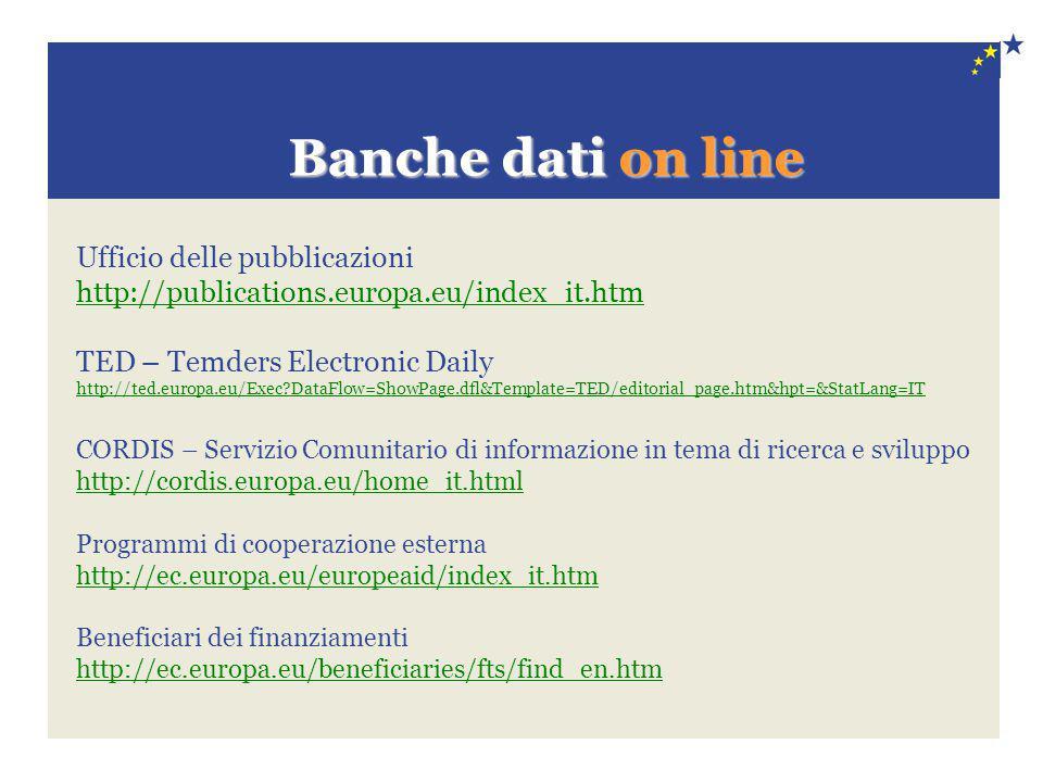 Banche dati on line Ufficio delle pubblicazioni
