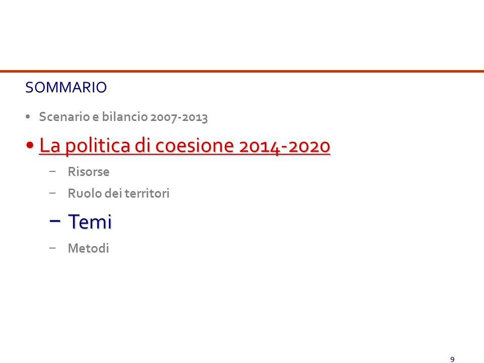 La politica di coesione 2014-2020