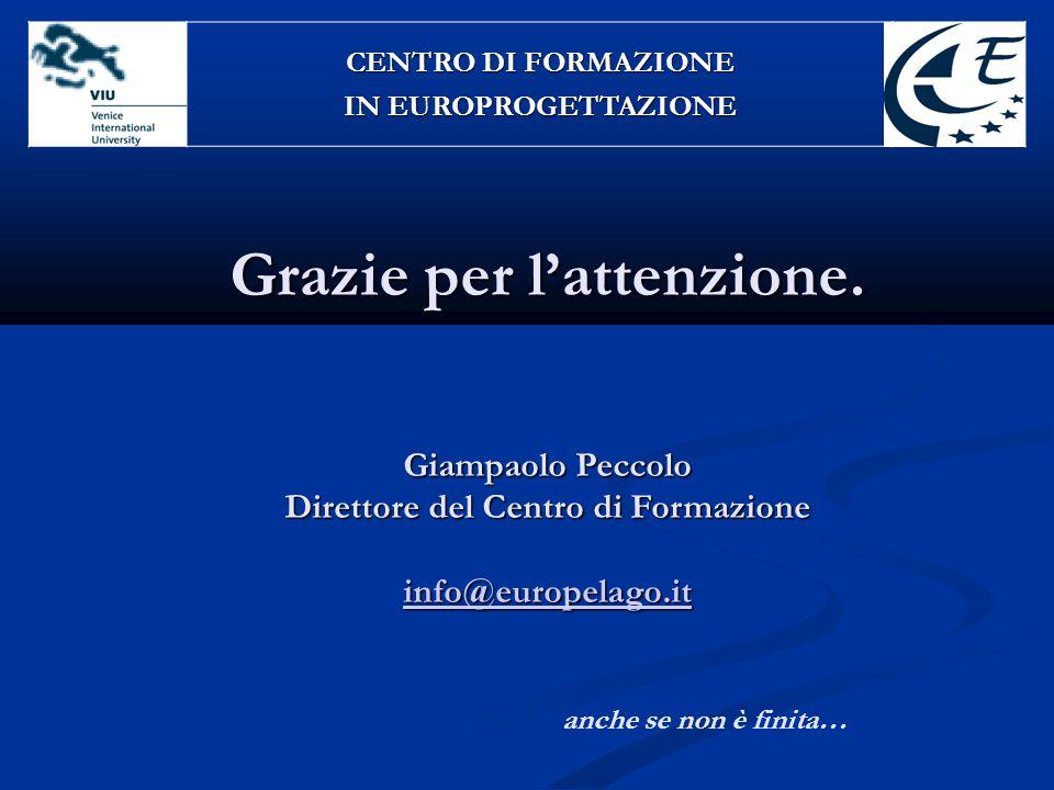 CENTRO DI FORMAZIONE IN EUROPROGETTAZIONE.