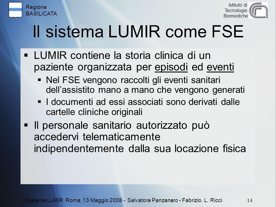 Il sistema LUMIR come FSE