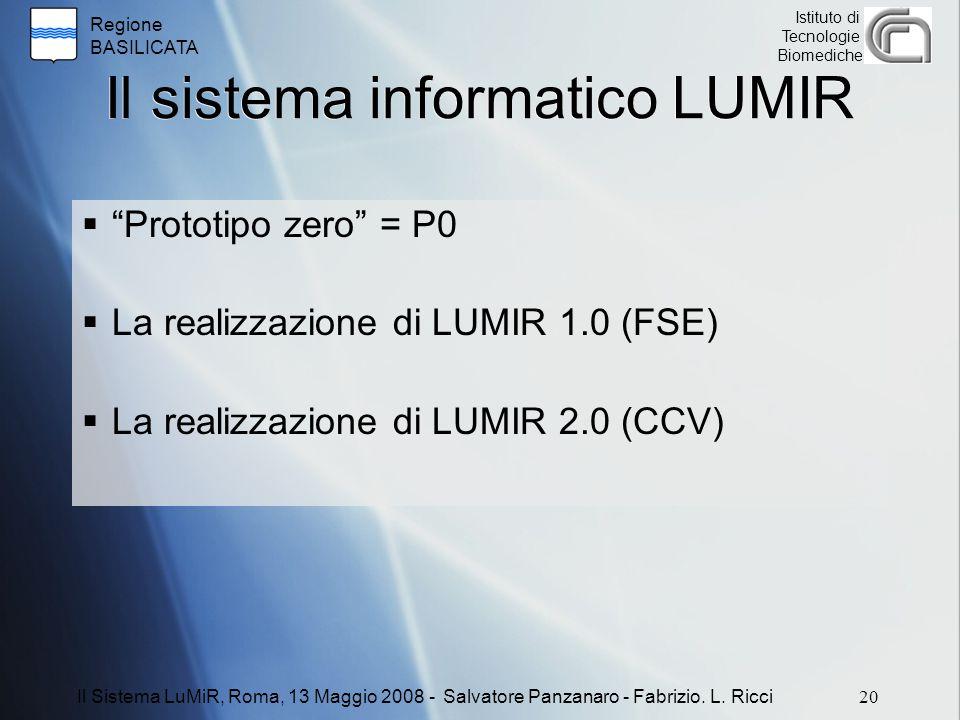 Il sistema informatico LUMIR