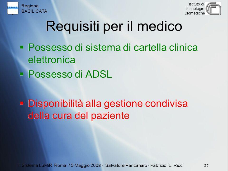 Requisiti per il medico