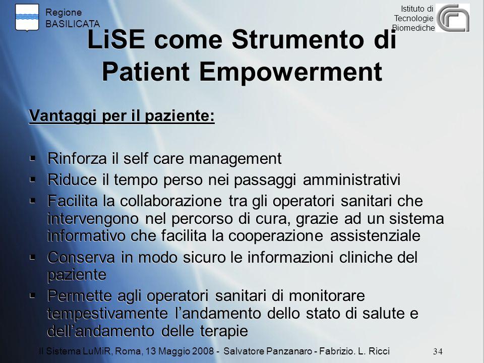 LiSE come Strumento di Patient Empowerment