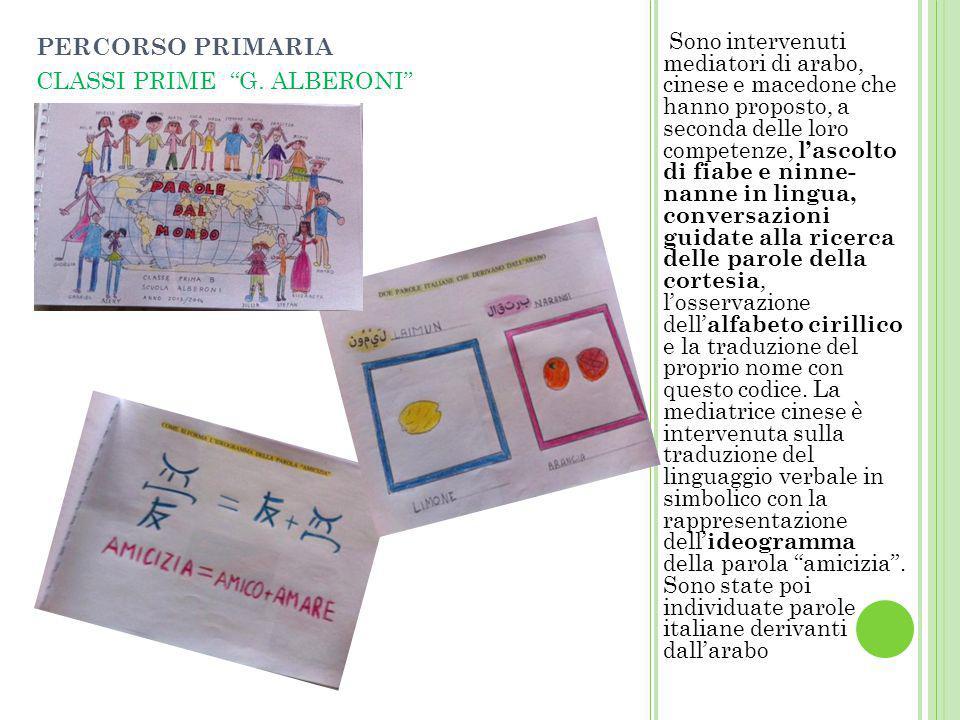 PERCORSO PRIMARIA CLASSI PRIME G. ALBERONI