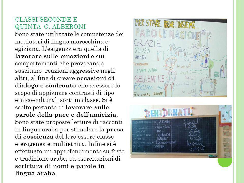 CLASSI SECONDE E QUINTA G. ALBERONI.
