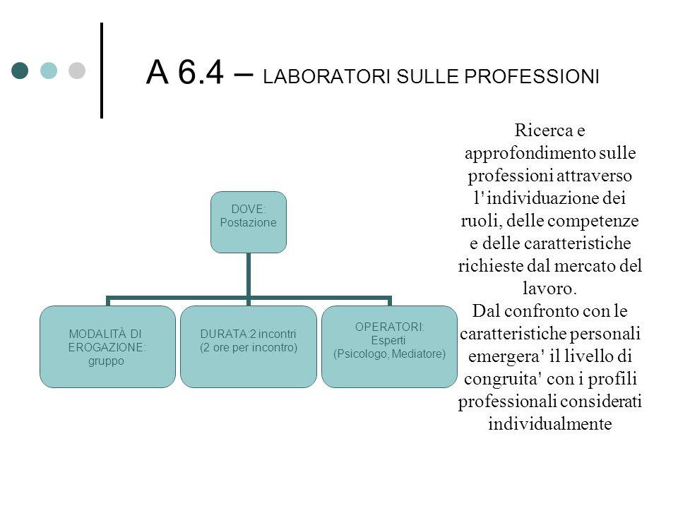 A 6.4 – LABORATORI SULLE PROFESSIONI