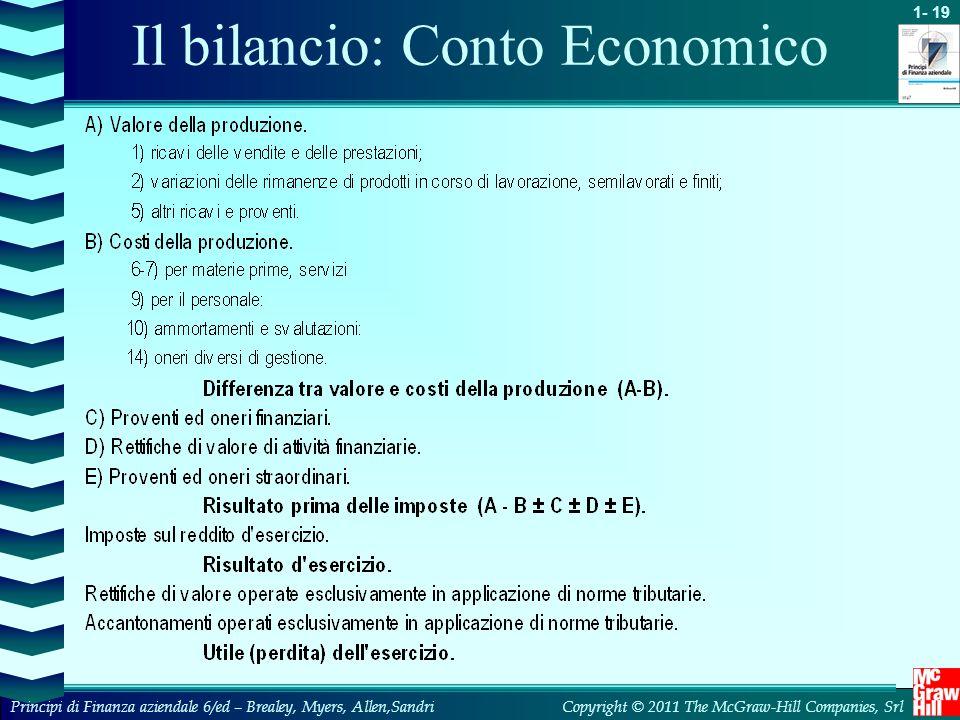 Il bilancio: Conto Economico