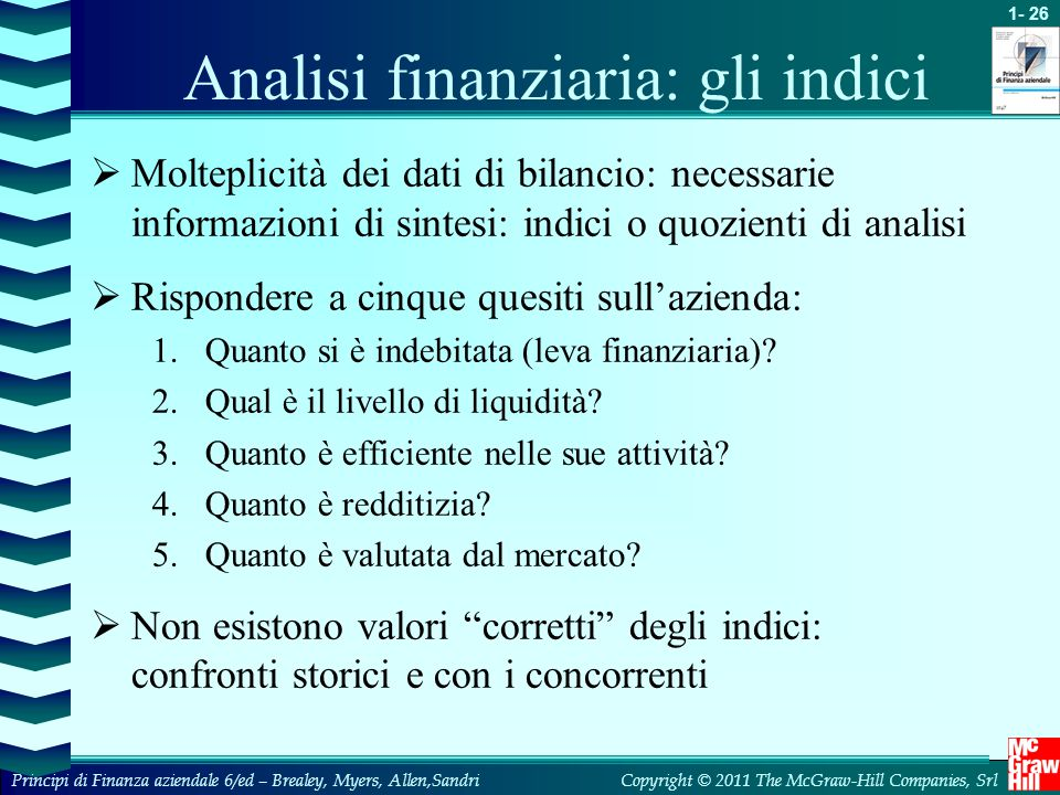Analisi finanziaria: gli indici