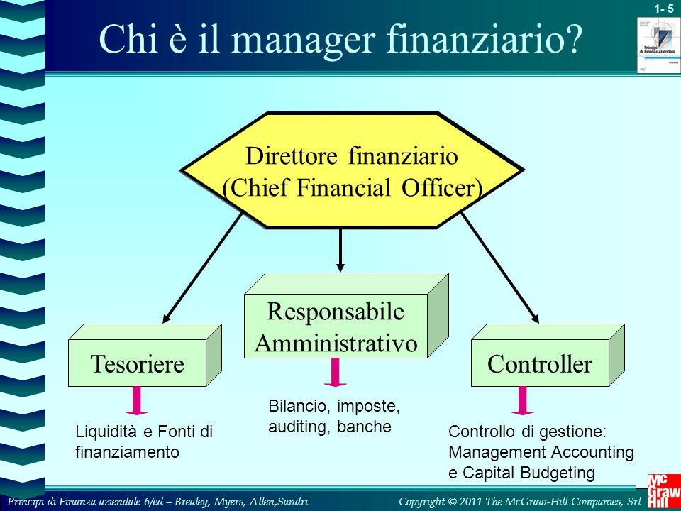 Chi è il manager finanziario