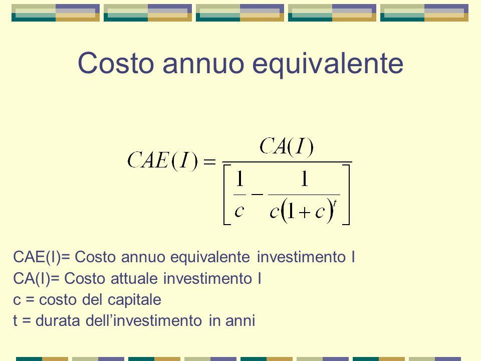 Costo annuo equivalente