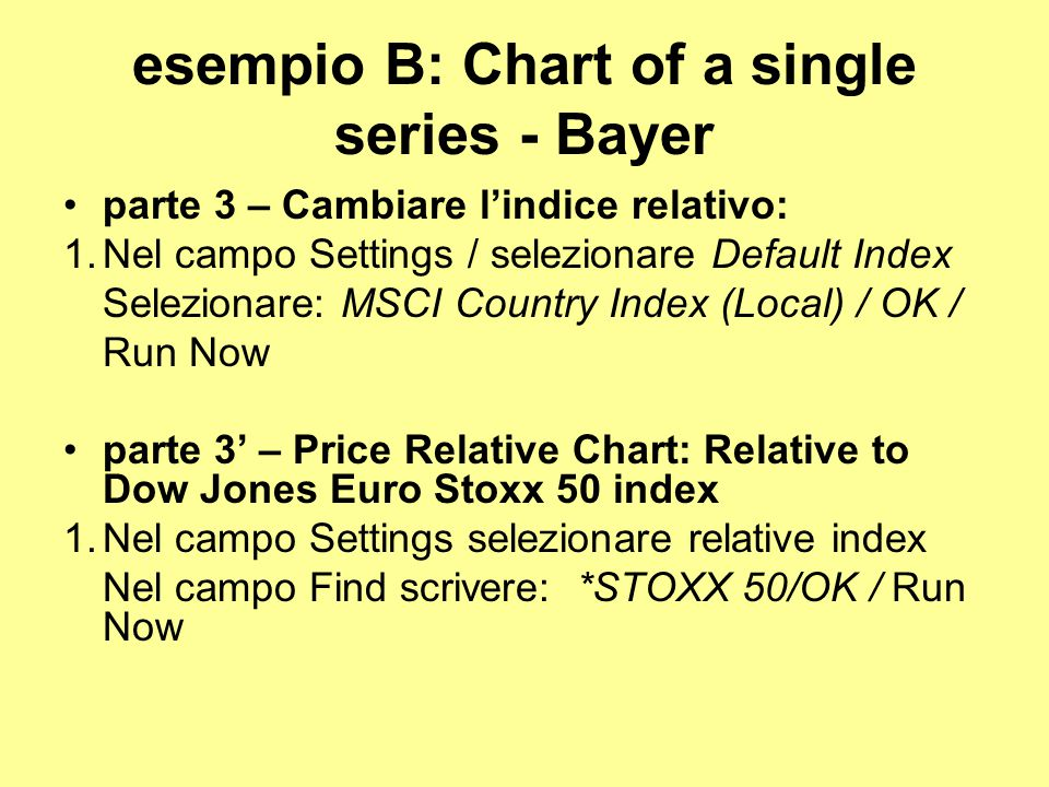 esempio B: Chart of a single series - Bayer