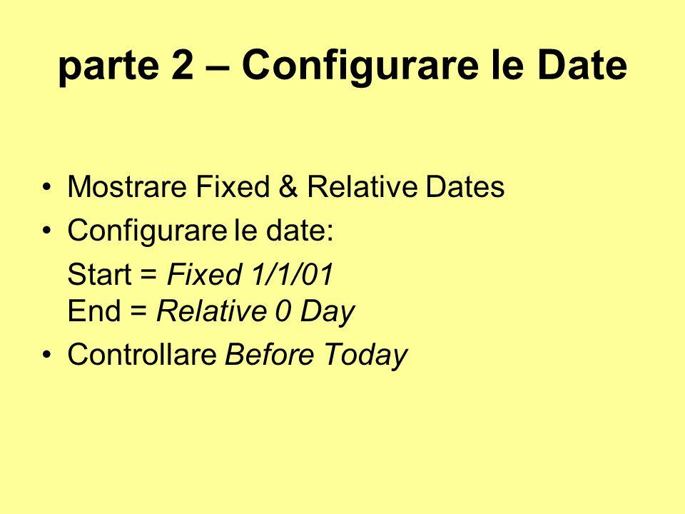 parte 2 – Configurare le Date