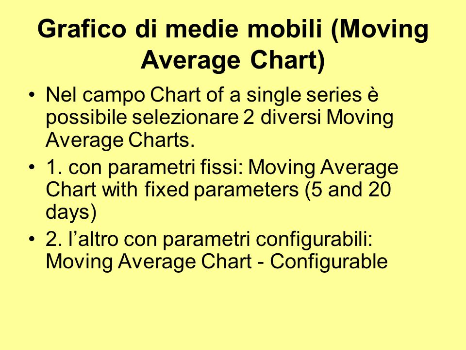 Grafico di medie mobili (Moving Average Chart)