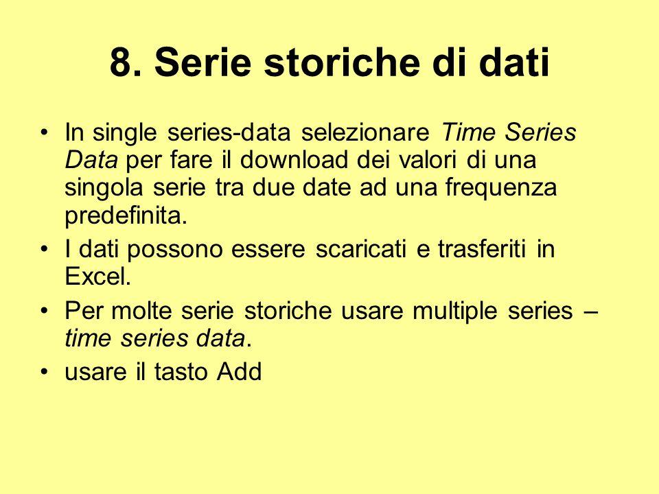 8. Serie storiche di dati