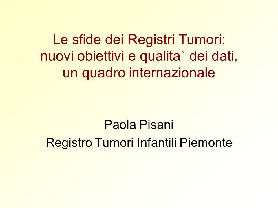 Paola Pisani Registro Tumori Infantili Piemonte
