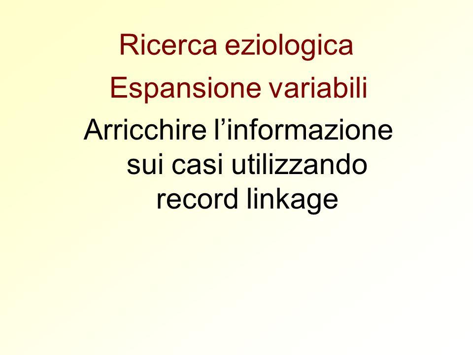 Arricchire l'informazione sui casi utilizzando record linkage