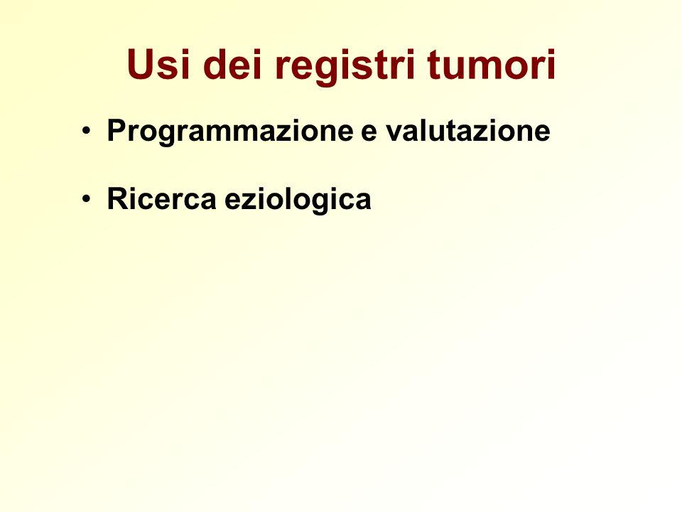Usi dei registri tumori