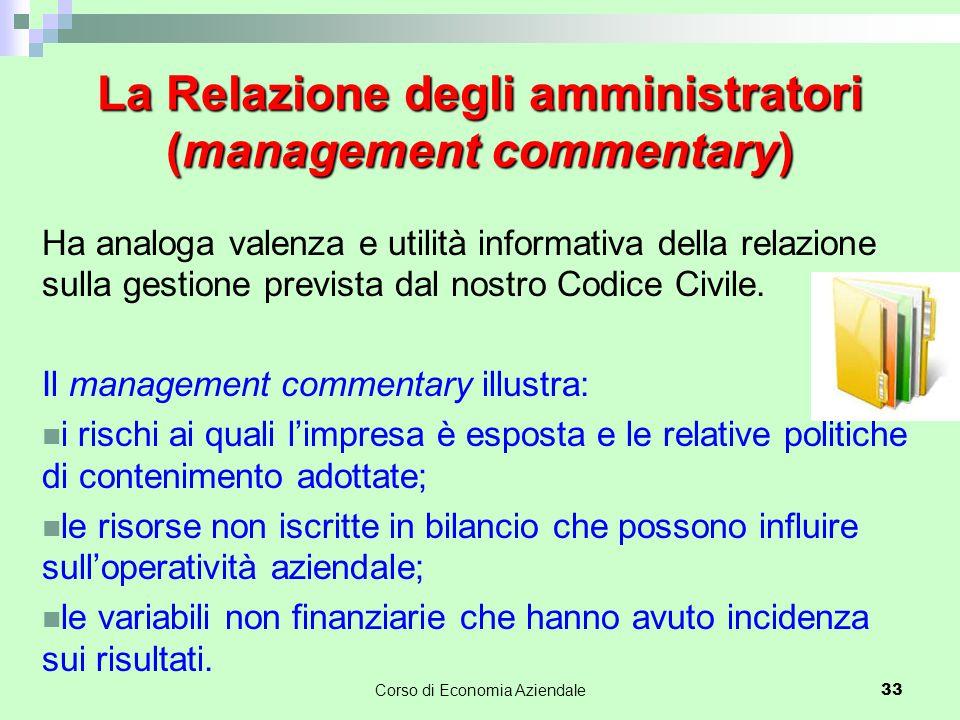La Relazione degli amministratori (management commentary)