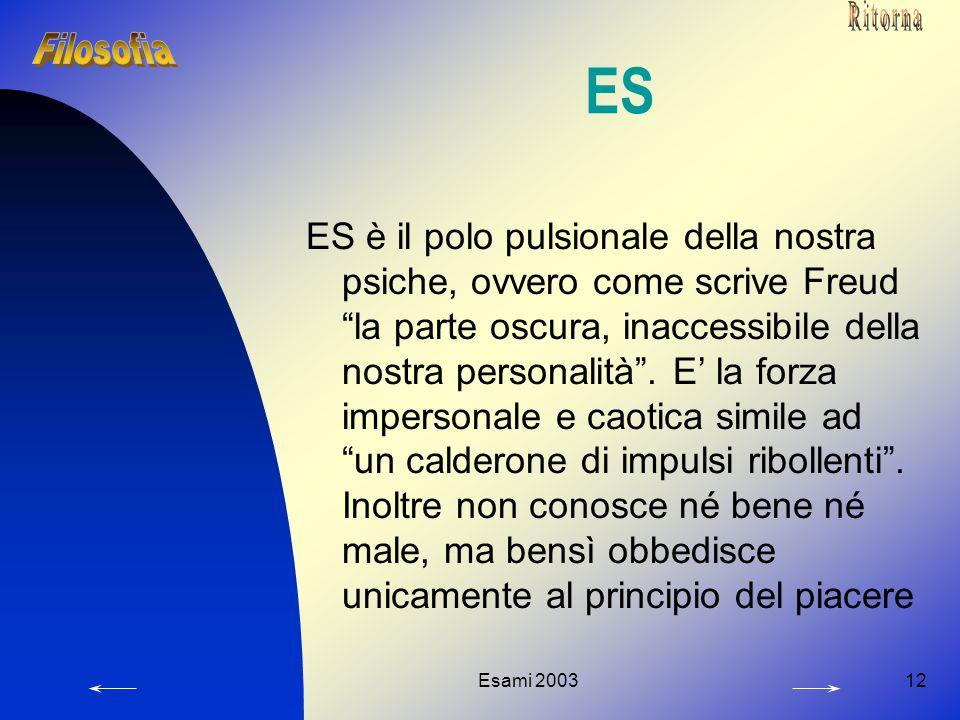Ritorna ES. Filosofia.