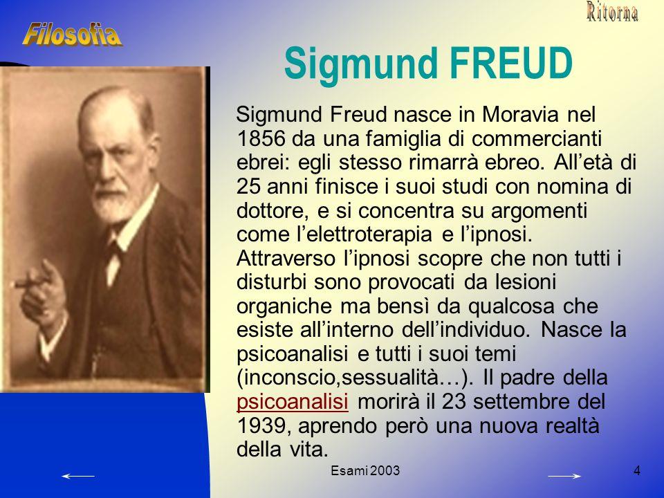 Ritorna Sigmund FREUD. Filosofia.