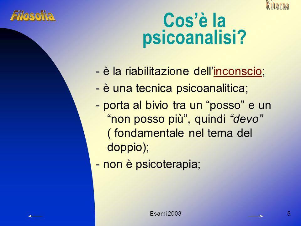 Cos'è la psicoanalisi - è la riabilitazione dell'inconscio;
