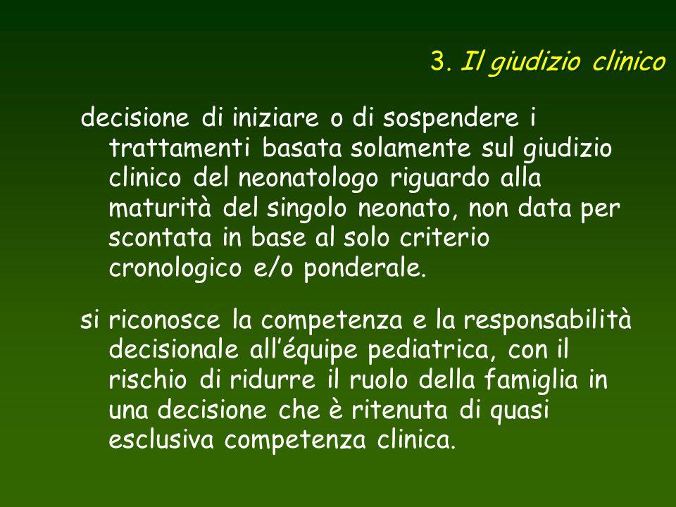 3. Il giudizio clinico