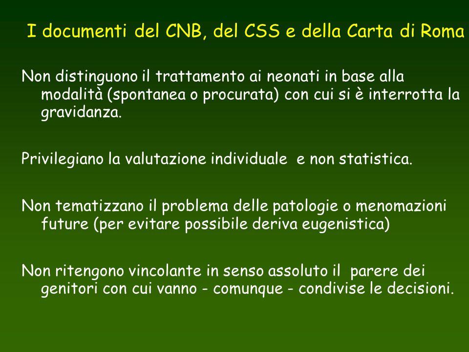 I documenti del CNB, del CSS e della Carta di Roma