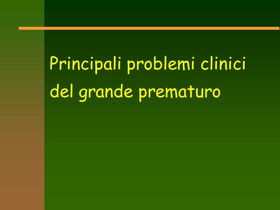 Principali problemi clinici