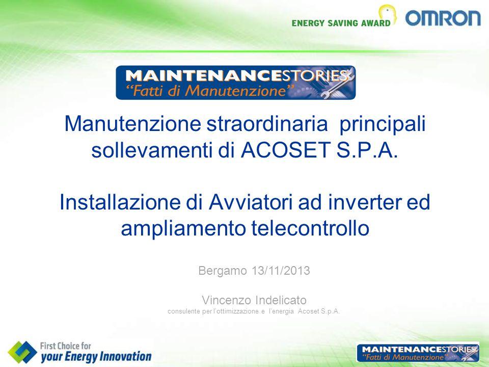 consulente per l'ottimizzazione e l'energia Acoset S.p.A.