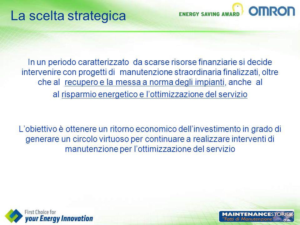 al risparmio energetico e l'ottimizzazione del servizio