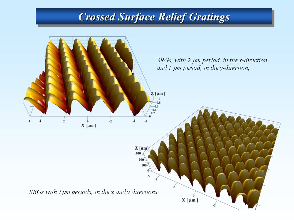 Crossed Surface Relief Gratings