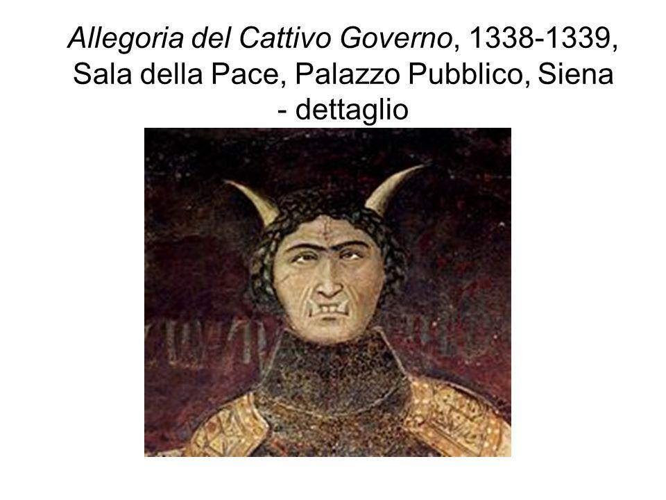 Allegoria del Cattivo Governo, 1338-1339, Sala della Pace, Palazzo Pubblico, Siena - dettaglio
