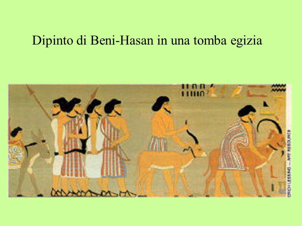 Dipinto di Beni-Hasan in una tomba egizia