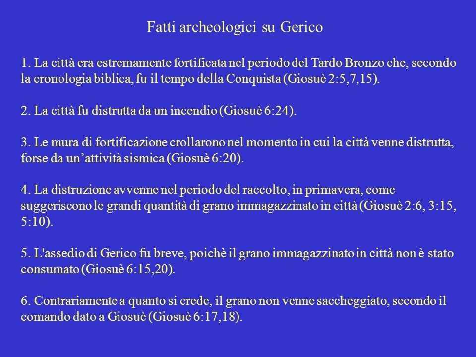 Fatti archeologici su Gerico