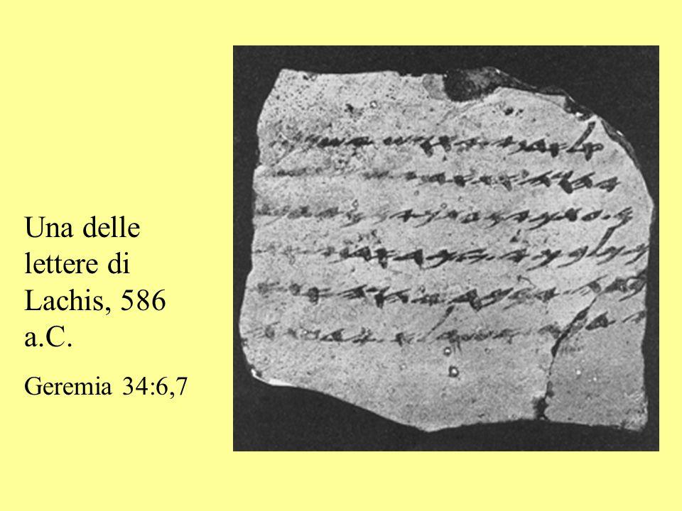 Una delle lettere di Lachis, 586 a.C.