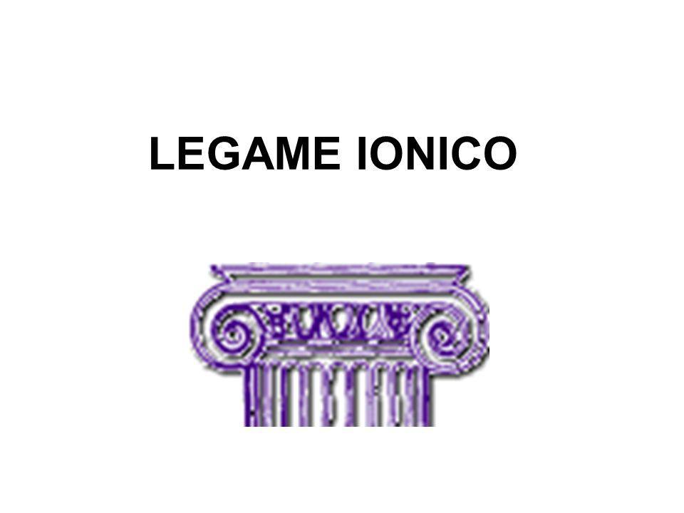 LEGAME IONICO