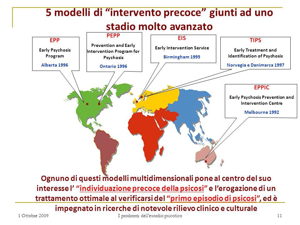 5 modelli di intervento precoce giunti ad uno stadio molto avanzato