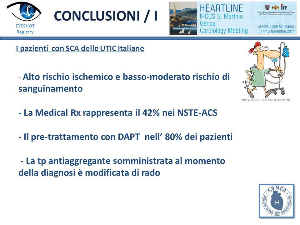 CONCLUSIONI / I I pazienti con SCA delle UTIC Italiane