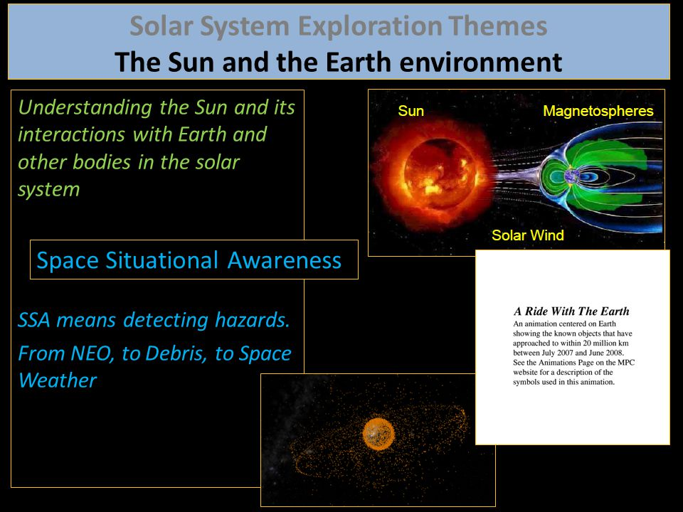 Solar System Exploration Themes The Sun and the Earth environment