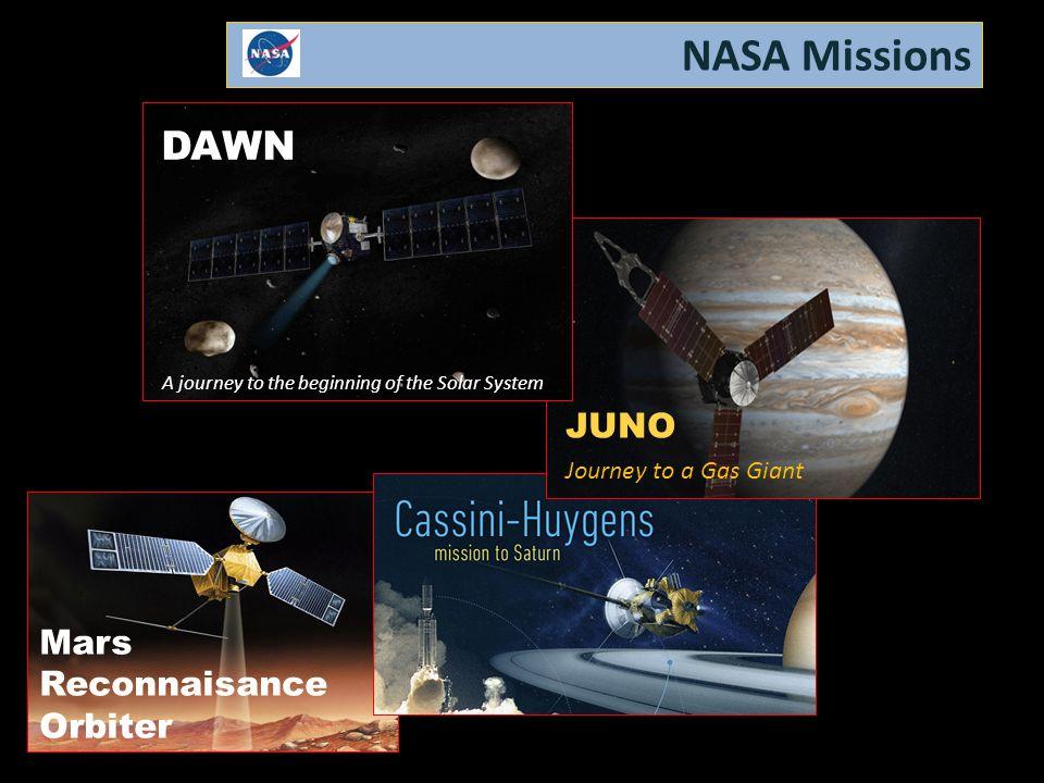 NASA Missions DAWN JUNO Mars Reconnaisance Orbiter
