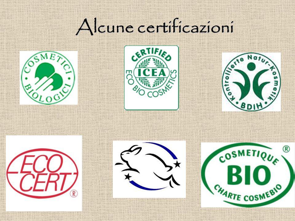 Alcune certificazioni