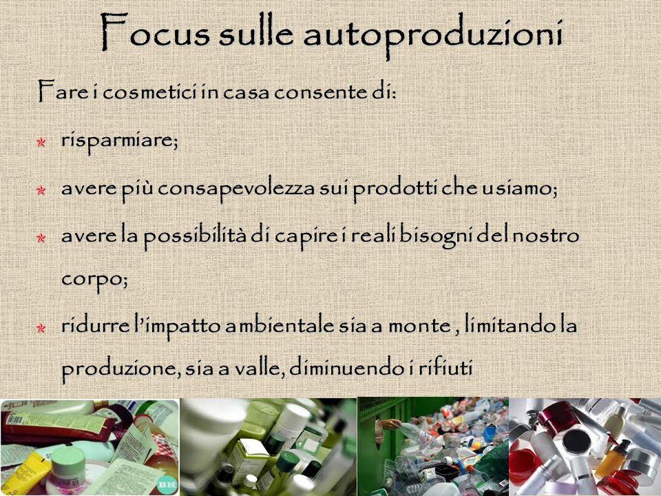Focus sulle autoproduzioni