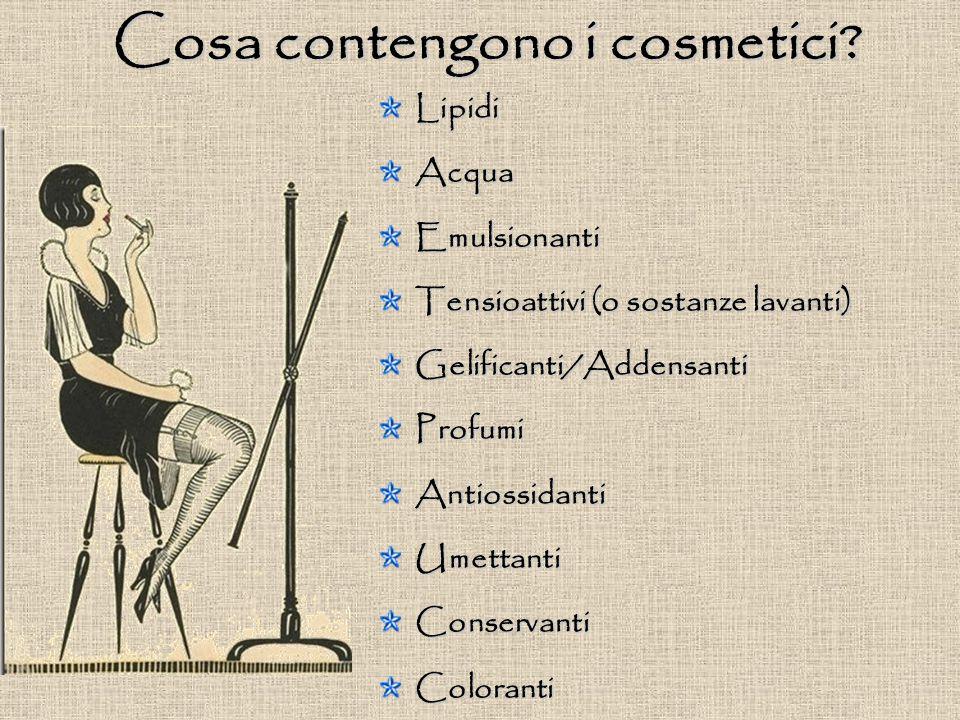 Cosa contengono i cosmetici