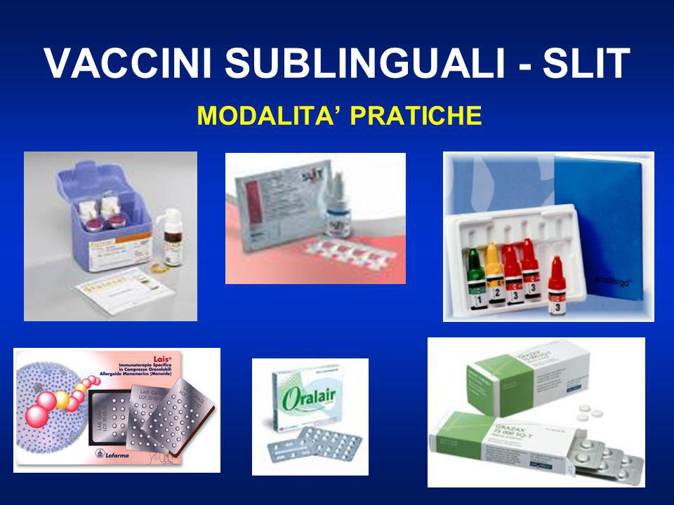 VACCINI SUBLINGUALI - SLIT