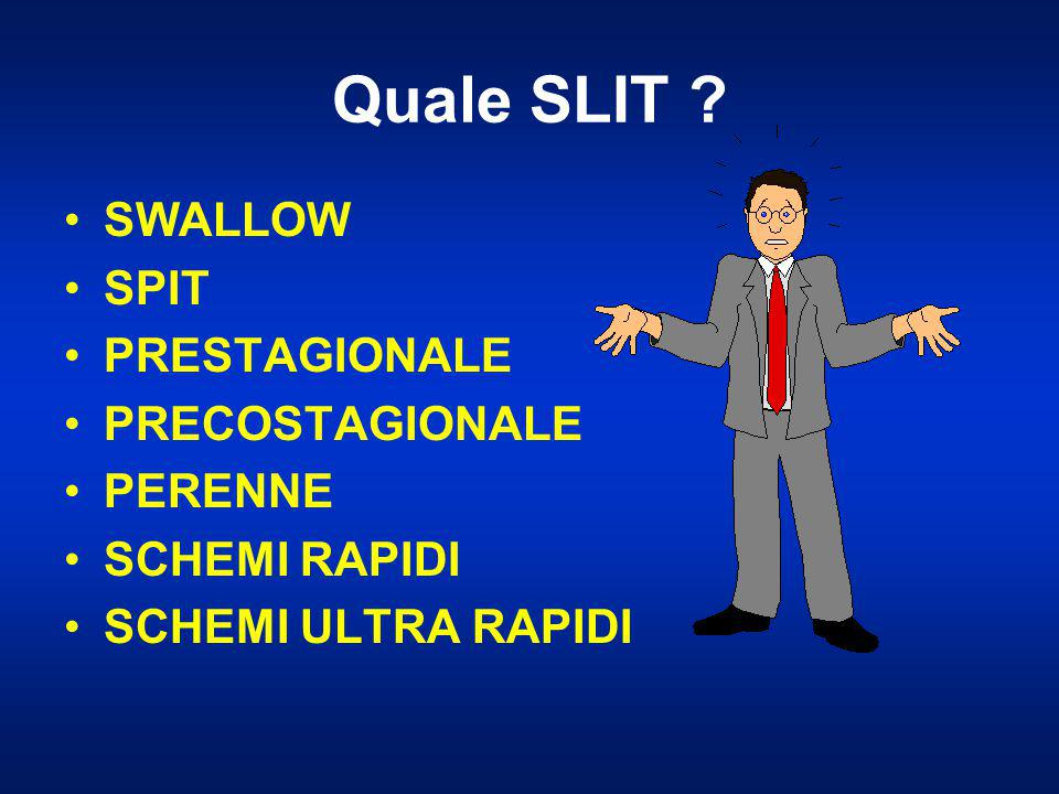 Quale SLIT SWALLOW SPIT PRESTAGIONALE PRECOSTAGIONALE PERENNE